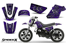 YAMAHA PW50 CREATORX GRAPHICS KIT DECALS SPIDERX PURPLE