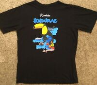 New RARE! Roatan, Honduras Black Graphic T-Shirt Unisex Sz M / L UN PARAISO NOS!