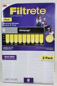 2 Pack Filtrete R Advanced Allergen Air Purifier Filter HEPA Honeywell HPA200