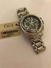 Men's ESQ Movada Chronograph Stainless Steel Indiglo Dial New free shipping!!