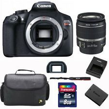 Canon 1300D / T6 DSLR Camera + 18-55mm Lens + 8GB + Case Value Bundle