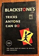 Vintage Blackstone's Tricks Anyone Can Do - Hardcover - 1948
