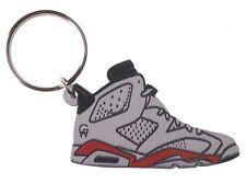 Good Wood NYC Infrared 6 White Sneaker Keychain Wht/Blk VI Shoe Key Ring Key Fob