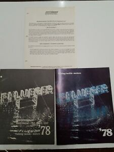 Vintage 1978 Phlueger Price List, Warranty Act, And Catalog