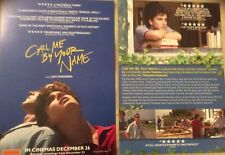 Promotional Movie Flyer For Call Me By Your Name With Armie Hammer *NOT A DVD*