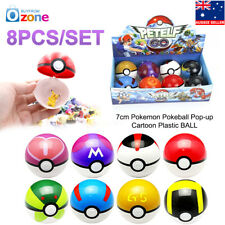 8pcs 7cm Pokemon Pokeball Pop-up Cartoon Plastic Ball Toy Kids Gift