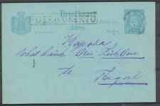 N.I.HALTEST.POERWOKERTO OP BRIEFK.5 CT.-TAGAL,AS.KLEINROND TEGAL 22/4/1893 Zj421