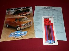 1980 CHEVROLET VAN & SPORTVAN BROCHURE, CATALOG + PAINT COLOR CHIPS & MORE!