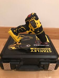 STANLEY FATMAX FMC628  BRUSHLESS 18V LI-ION COMBI DRILL BODY ONLY WARRANTY!