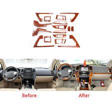 16pcs Wood Grain Full Interior Dash Trim Kit Cover For Toyota Land Cruiser 08-15