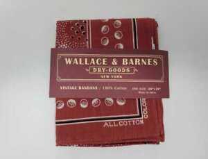 NEW J CREW WALLACE & BARNES PATTERENED MOON PRINT 20x20 COTTON RED BANDANA