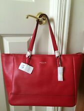 NWT Coach Saffiano Leather East West City Tote/Bag, Vermillion/True Red Gorgeous