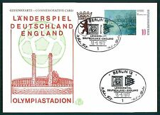 Berlin Card 1972 Football countries Game D-England Olympic Stadium Football br96