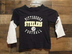 PITTSBURGH STEELERS LONG SLEEVE T-SHIRT SIZE XXL (4T) IN GOOD CONDITION