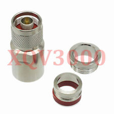 1pce Connector N male plug pin clamp for LMR600 RF COAXIAL