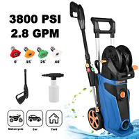 3800PSI 2.8GPM Electric Pressure Washer High Water Cleaner Sprayer 4Nozzle USA