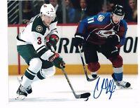 """Charlie Coyle Minnesota Wild Autographed 8"""" x 10"""" Photo W/COA A"""
