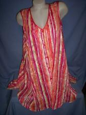 """""""NNER MOST"""" MULTI-COLOR STRIPED SHEER  POLY/CHIFFON CHEMISE NIGHTGOWN sz: M"""
