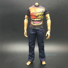 "1/6 Scale The Hulk Printed T-Shirt+Blue Jeans Set For Male 12"" Action Figure"