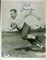 Red Grange PSA DNA Coa Autograph Hand Signed 8x10 Photo