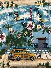 Shower Curtain Beach Surfboards Ocean Woody Cars Salt Life Vohann