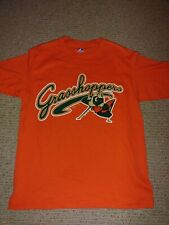 Greensboro Grasshoppers Minor League Baseball Team T-Shirt Orange Size M Medium