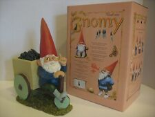 Rien Poortvliet Gnomy Wheelbarrow. Al329. 10 inches by 5 inches.