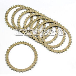 8X Motorcyle Clutch Friction Plates For Harley Sportster 1200 XLH1200 883 XL883L