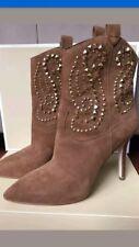 **BRAND NEW L@@K!!**MICHAEL KORS GOLD STUDDED SUEDE HEELED BOOTS!! US WOMEN SZ 7