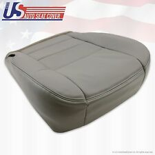 2002 - 2007 Ford F250 F350 Lariat Passenger Bottom Leather Seat Cover Flint Gray