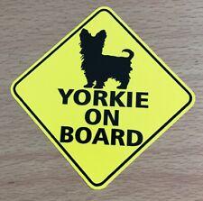 Yorkie On Board Sticker - Yorkshire Terrier Dog Pets Mans Best Friend Puppies