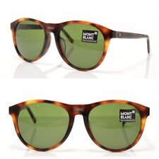 MONT BLANC Sunglasses MB506T 52N New! Authentic! Green Havana Brown w/Case