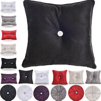 Luxury Diamante Filled Cushion Chenille Scatter Shiny Square Round Boudoir Shape