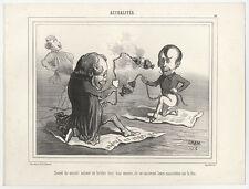 Karikatur/Satire: CHAM (*1819) u. Ch. Vernier (*1813).- 3 Lithographien, c. 1860