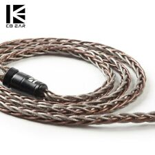 KBEAR Rhyme 8 Core Single Crystal Copper UPOCC Audio Cable 3.5mm 2-Pin 0.78 IEM