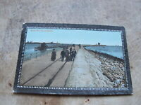 1913 fr Postcard - Social gathering, South Pier South Shields, Tyne & Wear