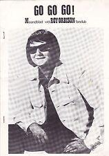 Roy Orbison-Go Go Go Music  magazine From the Dutch Roy Orbison Fanclub