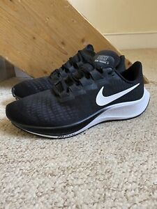 Nike Air Zoom Pegasus 37 Trainers/Shoes Black/White UK Sz. 7