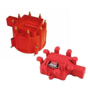 MSD 84111 Extreme Output GM HEI Distributor Cap & Coil Cover, Red