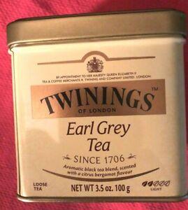 Twinings Earl Grey of London Loose Tea Tin 100g 3.5oz exp Nov 2021