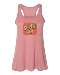 RACERBACK, SUPER MOM, MOTHER, Sublimation, Women's TANK TOP, Soft Bella