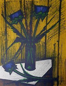 Bernard Buffet, Fleurs d'artichauts 1980, Hand Signed Lithograph 45/125