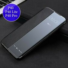 Huawei Smart View Case Flip Cover P40 Lite Pro Schutz Hülle Handy Tasche Etui