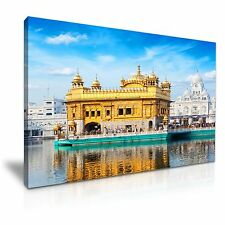 Golden Temple In Amritsar Punjab India Stretched Canvas Print 76 cm x 50 cm
