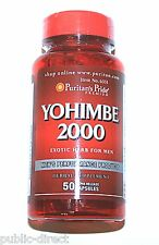 Yohimbe Bark 2000 mg Mens Sexual Enhancement Male Performance Capsules Pills