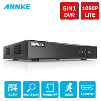 ANNKE 5in1 1080P Lite H.264+ 8CH DVR Video Recorder Security System Email Alert