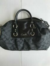 Coach 15443 Ashley Signature Sateen Satchel Black NWT