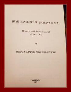 Bank Handlowy SA 1870-1970 monograph, Citigroup, Zamoyski, Kronenberg