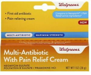 Walgreens Antibiotic + Pain Relief Generic Neosporin  Fast Free EU Shipping