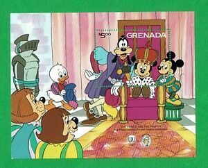"""GRENADA 1985 MNH, DISNEY """"THE PRINCE AND THE PAUPER"""""""